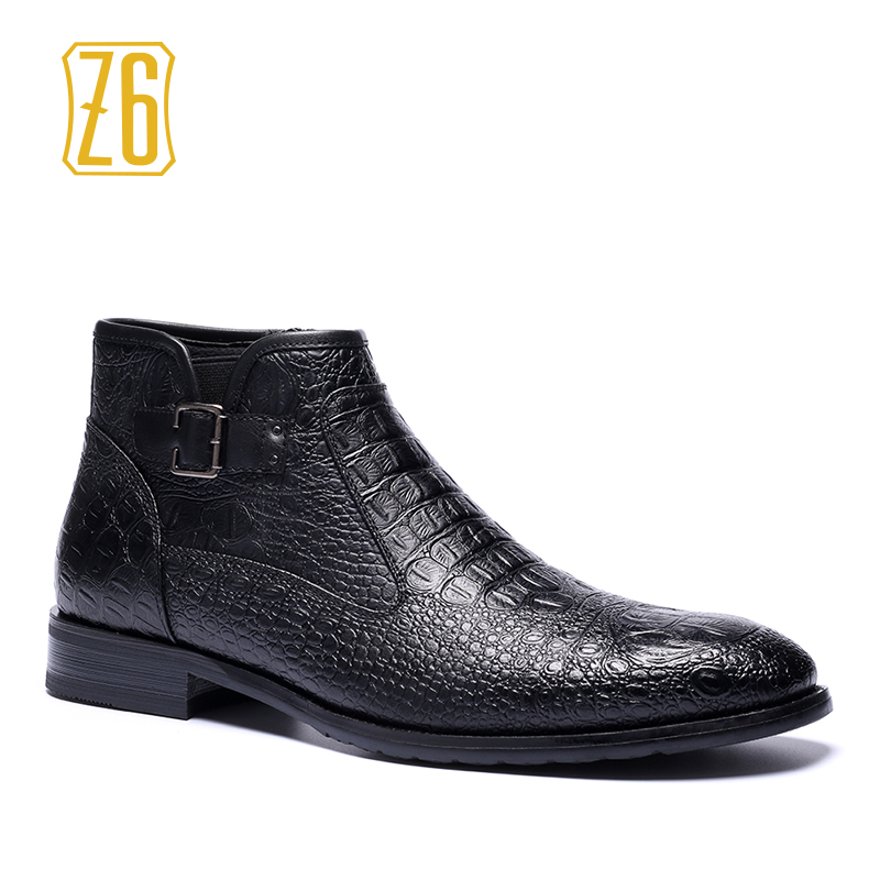39-48 brand men boots Z6 Top quality handsome comfortable Retro leather spring boots #R5282(China (Mainland))
