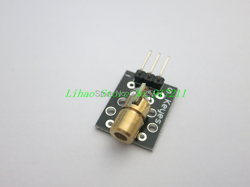 10pcs/lot KY-008 650nm Laser sensor Module 6mm 5V 5mW Red Laser Dot Diode Copper Head for Arduino(China (Mainland))