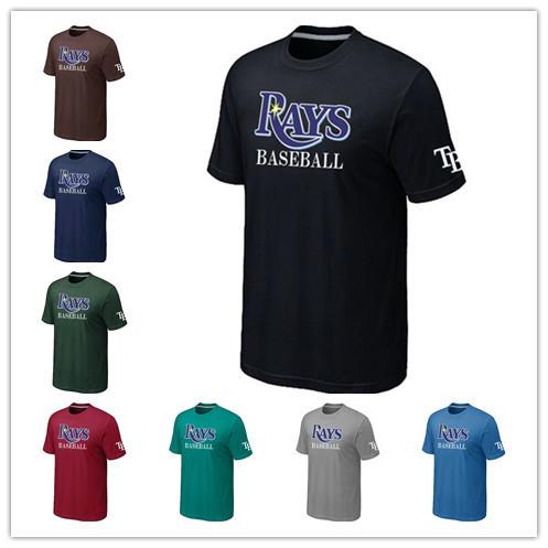 Cheap Tampa Bay Rays Baseball T Shirts Short Sleeve O-Neck Practice T-shirt wholesale Tampa Bay Rays Cotton Shirts 14 Colors(China (Mainland))