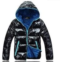 нет акций Мужская осенью и зимой краткий - тонкий стиль двойной грудью большой поворот вниз воротник короткие дизайн мужские пальто