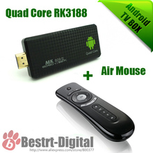 Android TV Box MK809 III with T2 Remote air mouse RK3188t Quad Core up To1.4 Ghz Android 4.4 Mini PC 2GB+8GB, Smart TV Box(China (Mainland))