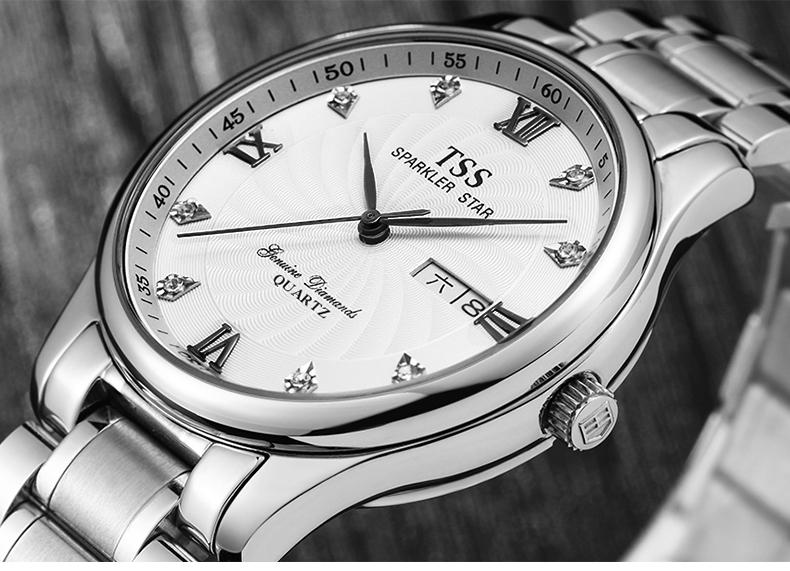 Мужские Часы TSS Лучший Бренд Класса Люкс Мужчины Военный Спорт Отображения Даты Из Нержавеющей Кварцевые часы relogio masculino наручные