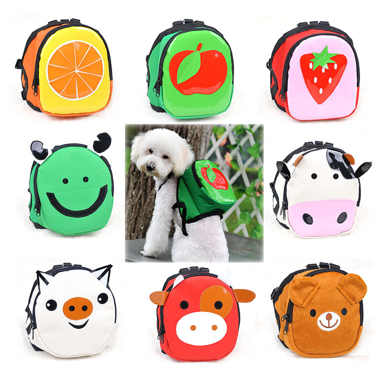 Small dog pet bag purse backpack pet-dog bag back coin pocket super cute high quality pet product(China (Mainland))