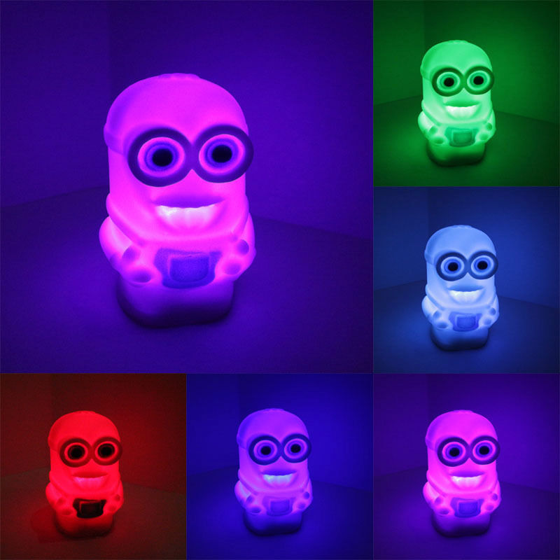 New 7 Color Changing Colorful Bedside Night Lamp Light luminaria Toy Despicable Me 2 Minions toys Figures Free Shipping-in Glow-in-the-Dark Toys from Toys & Hobbies on Aliexpress.com | Alibaba Group