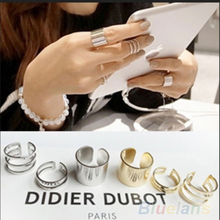 3Pcs 1Set Top Of Finger Over The Midi Tip Finger Ring Above The Knuckle Open Ring 049B