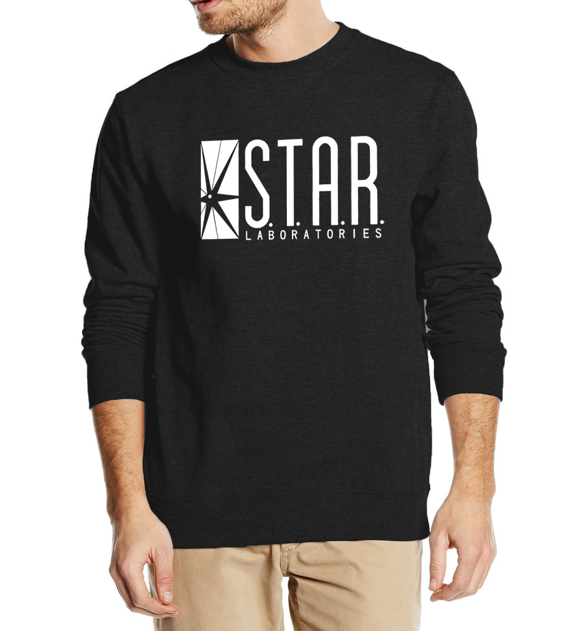 Superman Series Men Sweatshirt STAR S.T.A.R.labs autumn winter 2017 new fashion hoodies cool streetwear tracksuit high quality
