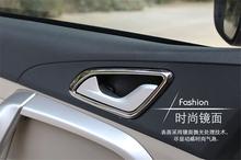 For Chery Tiggo 5 interior frame door handle ring decoration sticker ABS Chrome trim auto parts 4pcs per set