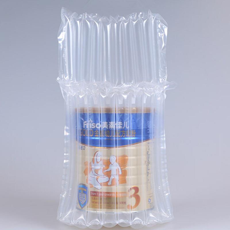 10Pcs/ Lot 13*21cm 900g Powdered Milk Canned 10 Column Clear Plastic Air Bubble Column For Easy Broken Anti Pressure Storage Bag(China (Mainland))
