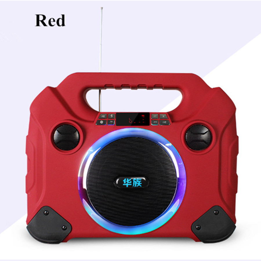 6.5 Inch LED Colorful Flash Light Ethnic Chinese V8 Mini Outdoor Square Dance Sound Portable Speaker Card Portable Speakers(China (Mainland))