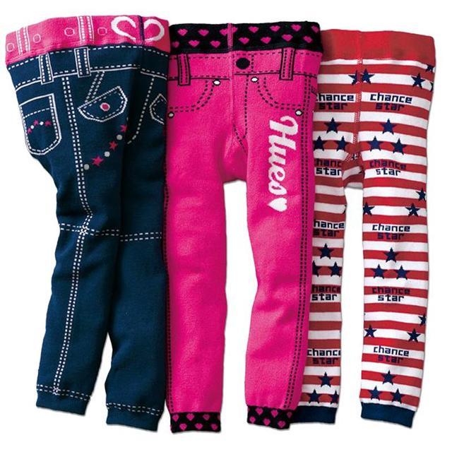 Мальчики девочки Трикотажные леггинсы 3 шт. детские искусственные джинсы брюки 2-4 Т малышей дети весна осень узкие брюки хлопка детей леггинсы