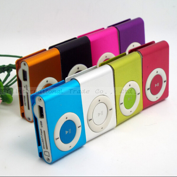 Free Shipping metal mp3 Mini clip,music player Players,support top 8gb micro sd card! 1pcs/lot (Only MP 3)(China (Mainland))