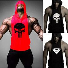 Skull ZYZZ Golds Bodybuilding Stringer Hoodies Gym Stringer Hoodie Fitness Brand Tank Top Men Clothing Cotton Pullover Hoody