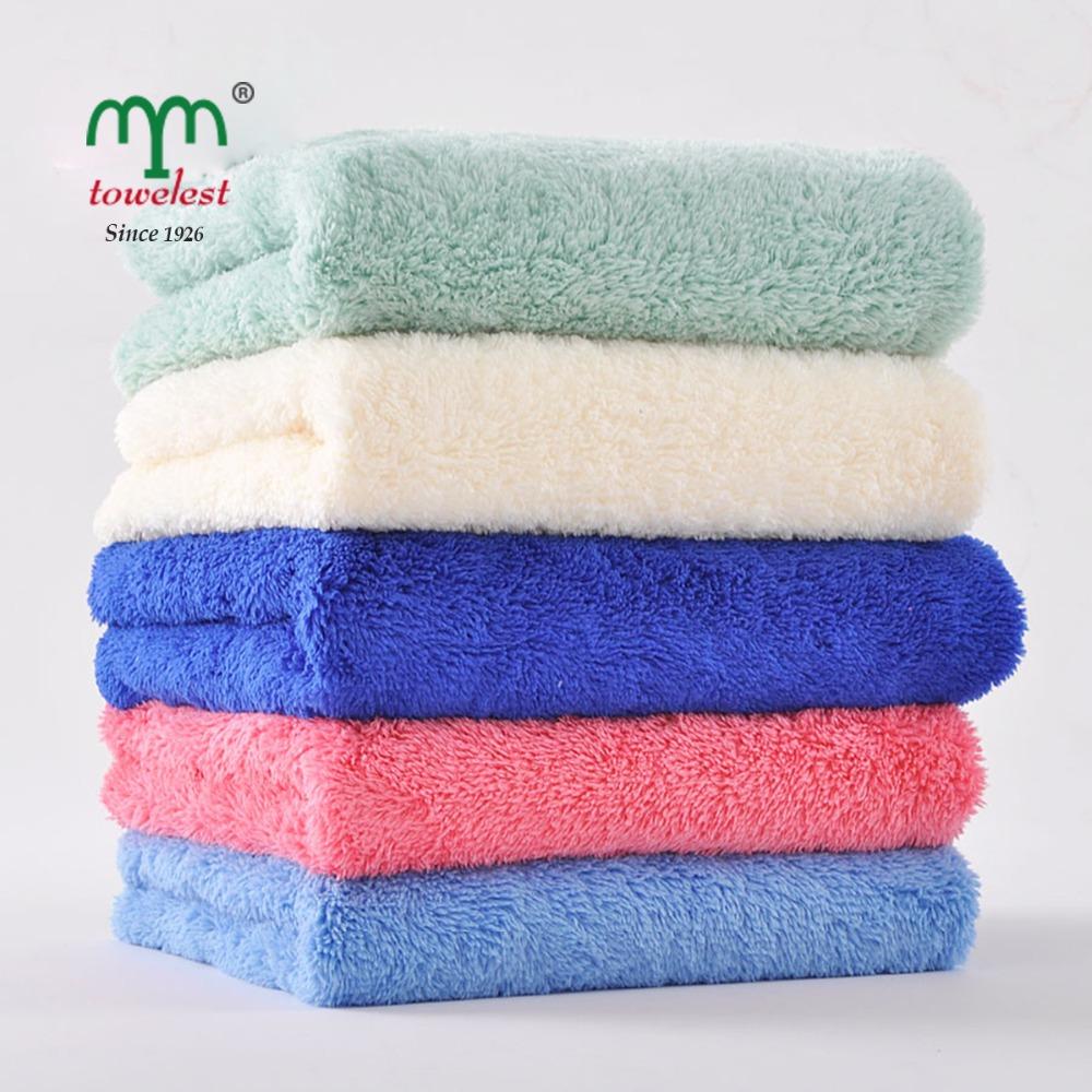 new 2015 -1pc microfiber hand towel for adult plush magic hair towel toalha de banho salon brand towels bathroom size 35*75(China (Mainland))