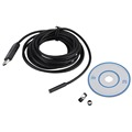 Camera Waterproof 5m Mini USB Endoscope Inspection Camera 6 White LEDs 1 9 CMOS 7mm Lens