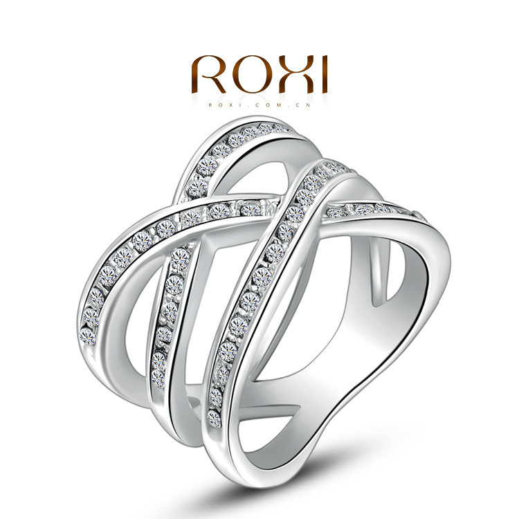 ROXI selling European and American jewelry wholesale jewelry genuine Austrian crystal ring wrapped around three sides of a gener(China (Mainland))