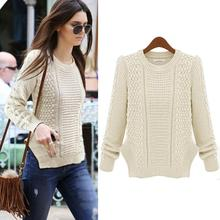 Superior Quality 1PC Women Casual Long Sleeve Knitwear Jumper Long Coat Jacket Sweater(China (Mainland))