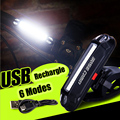 BASECAMP Night Cycling Light USB Charge LED Lights 6 Modes High Bright Waterproof MTB Bike Bicycle