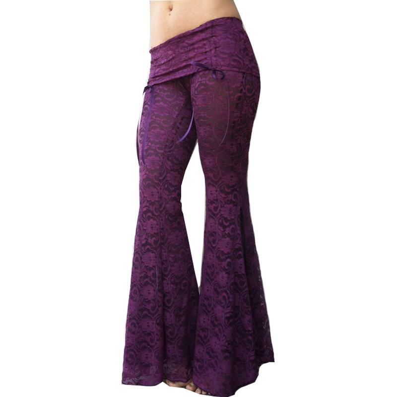 Lace Trousers Women Pants 2016 Summer Casual Ladies Beach Lace Wide Leg Pants Women Plus Size Pants Flare Trousers