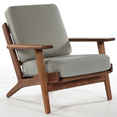 Hans wegner armchair living room chair modern design wood for Salon canape et 2 fauteuils