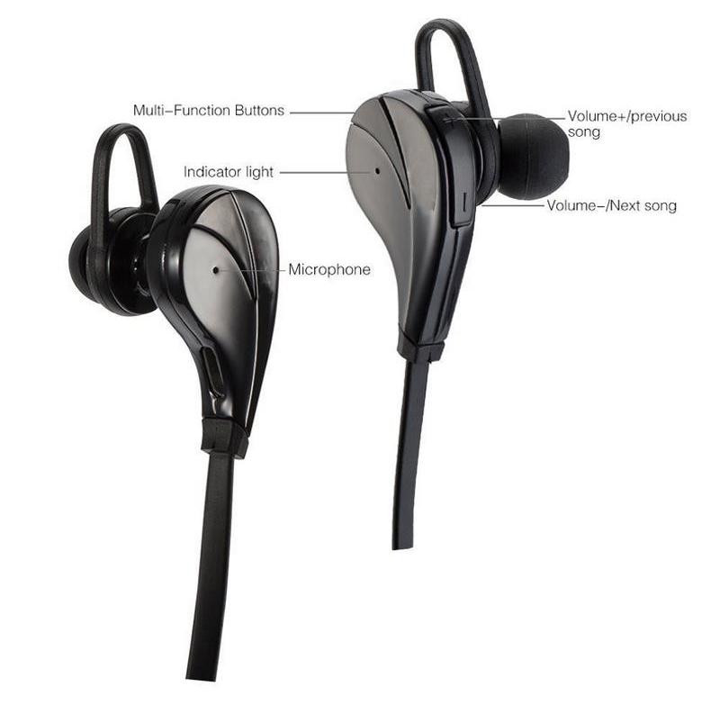 Original G6 Bluetooth 4.0 Headset Wireless Stereo Sports Earphone Studio Music Handsfree Sweatproof for iPhone Samsung