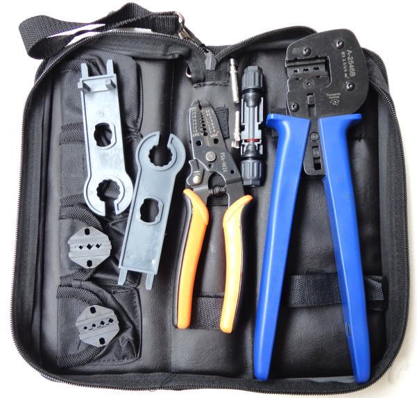 A-K2546B-4 Solar Tool Kit, solar Tool set MC4 crimping tool set with MC3 and tyco crimping die set, cable stripper, MC4 spanner<br><br>Aliexpress