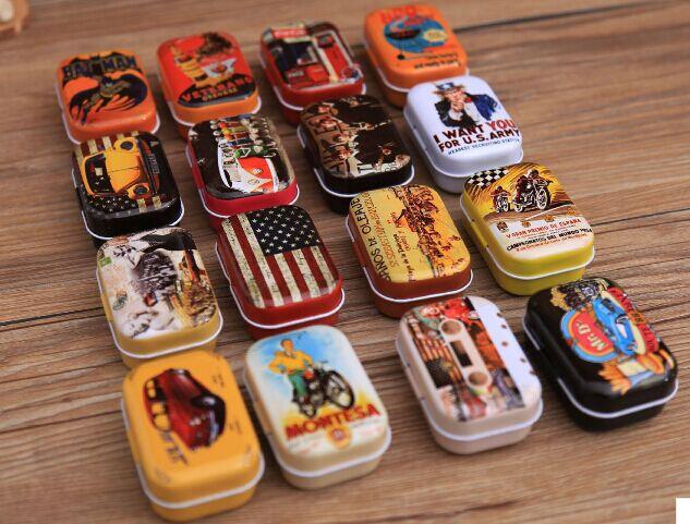 New Year Sale!Free shipping!Retro 16style high quality mini Tin Storage box/ jewelry Box/ Multi-purpose Storage Case 32pc(China (Mainland))