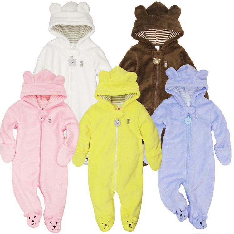 2016 Autumn Winter Baby Rompers Infant One Piece Newborn Brand Hoodies Jumpsuit Girl Boy Clothing - Angel's chest store