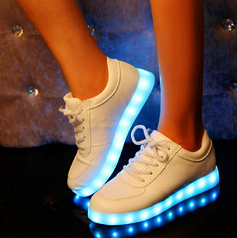 8 Colors 2015 New Fashion luminous Hot Selling Emitting Luminous Casual Shoe Men Women LED Sneakers USB Charging Lights shoes(China (Mainland))