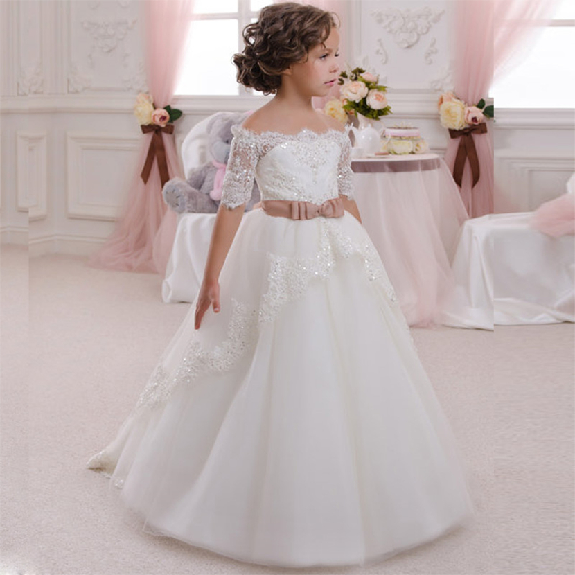 2016 flower girl dresses for wedding kids evening ball for Dresses for wedding for kids