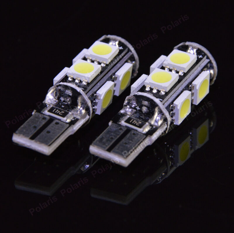 100pcs High Quality T10 9SMD 5050 CANBUS NO ERROR 194 168 192 W5W 9 LED Car Interior Light Wedge Lamps Free Warning Wholesale(China (Mainland))