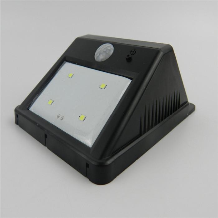 1Pcs Outdoor PIR Motion Sensor Security Lights Lamps Bright 4 LED Solar Powered Night Lamp(Hong Kong)