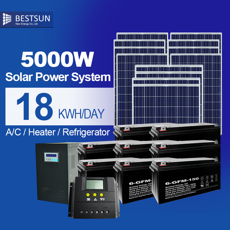 solar panel 5000w pv grid connected solar energy power system photovoltaic with solar batteries. Black Bedroom Furniture Sets. Home Design Ideas