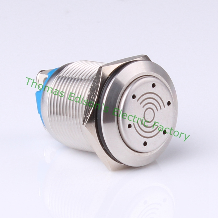 19mm LED metal push button waterproof stainless steel Buzzer with illumination car press button GQ19-EM/S<br><br>Aliexpress