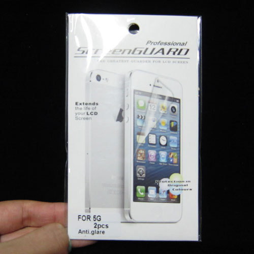 For iPhone 5 5G Anti Glare Matte Full Body Front+Back Screen Protector Guard free shipping 80pcs free shipping
