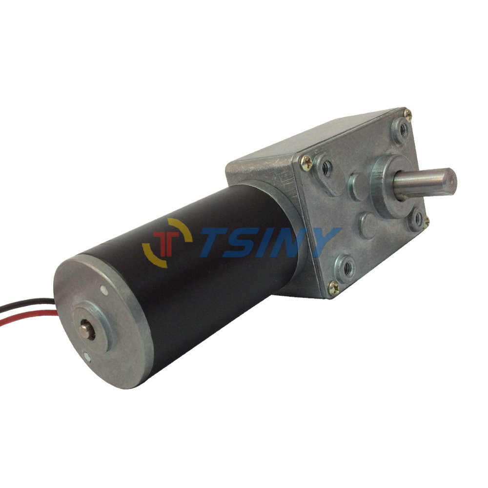 Dc 12v 110rpm Dc Worm Gear Motor Reducer Motor With