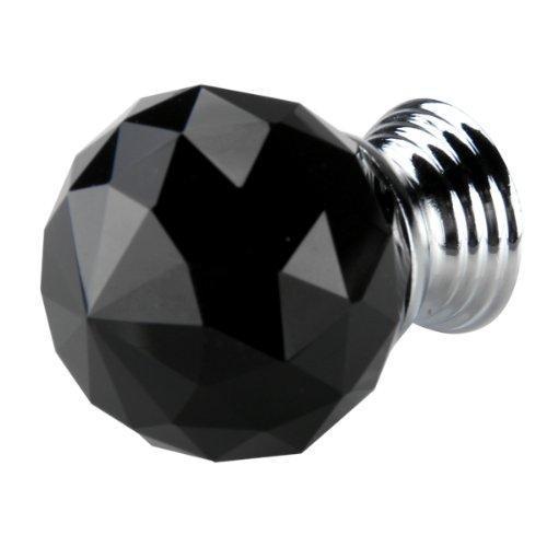 Гаджет  IG Wholesale Black Crystal Glass Cabinet Drawer Door Knobs Handles 30mm None Мебель