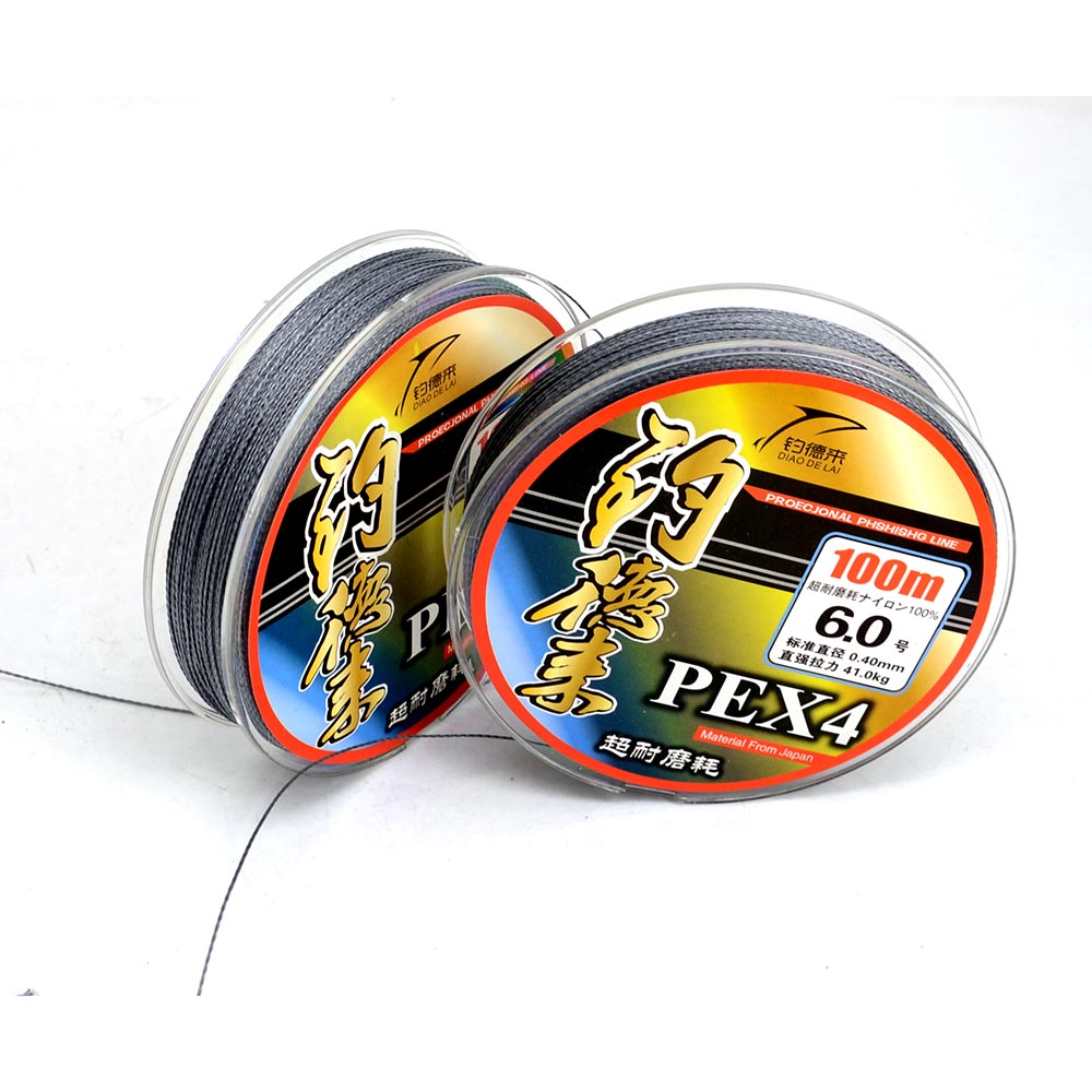 Super Strong Multifilament PE Braided Fishing Line Carp Fishing Rope Wire 100m 4 Braided 22/40/50/70/80/90/105/130LB(China (Mainland))