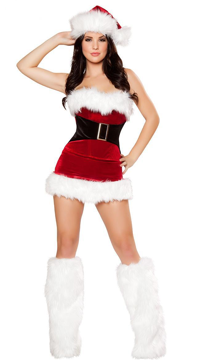 2014 women christmas dress sexy christmas costumes santa claus for