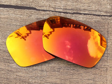 Fire Red Mirror Polarized Replacement Lenses For Badman Sunglasses Frame 100% UVA & UVB Protection