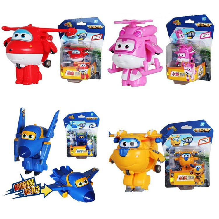 4PCS/Lot Super Wings Mini Planes Deformation Airplane Robots Action Figures Transformation robot Toys For Christmas gifts(China (Mainland))