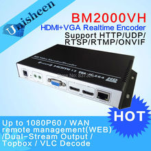 MPEG-4 AVC/H.264 HDMI VGA Encoder Dual real-time streaming