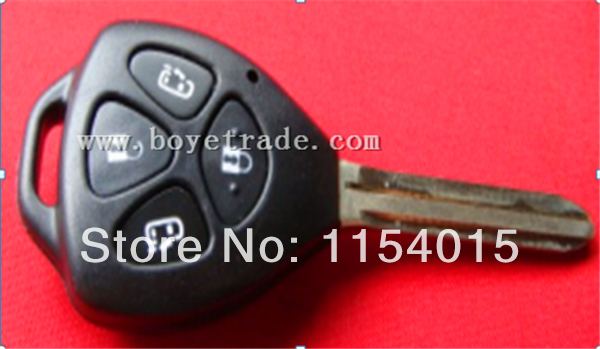 Best quality toyota 4 button remote key shell 5pcs/lot fee shipping(China (Mainland))