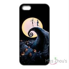 For iphone 4/4s 5/5s 5c SE 6/6s plus ipod touch 4/5/6 back skins mobile cellphone cases cover Nightmare Before Christmas Moon