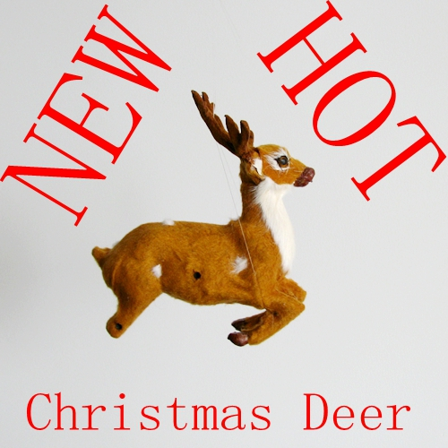 free shipping christmas deer artificial deer gift decoration mini deer artificial crafts animal deer christmas decoration(China (Mainland))