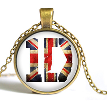 One Direction Fashion Statement Necklace For Women & Men Pendant Necklaces 2015 Casual Gift Link Chain Glass Cabochon Jewelry