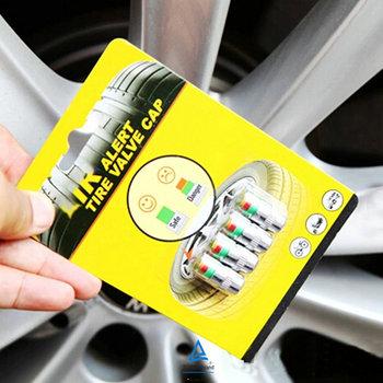 Universal Visiable 32 Psi 2.2 Bar Air Warning Alert Tire Valve Pressure Sensor Monitor Light Cap Indicator For Cars