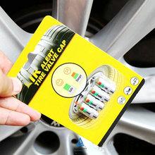 Universal Visiable 32 Psi 2.2 Bar Air Warning Alert Tire Valve Pressure Sensor Monitor Light Cap Indicator For Cars(China (Mainland))