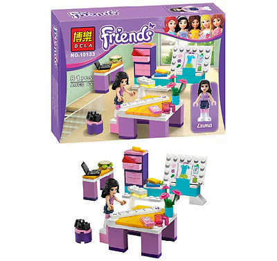 Girl Emma's Fashion Design Studio Building Blocks Assemble Toys Compatible with Lego Develop intellectual toys for children(China (Mainland))