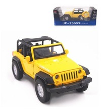 1:32 Open Jeep Wrangler RUBICON Diecast Sound Light Model Boy Toy Car Yellow(China (Mainland))
