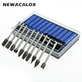 NEWACALOX 10pcs Dremel Carbide Burrs Drill Bit Set Rotary Burr Micro Drill Bits for Metal Woodworking